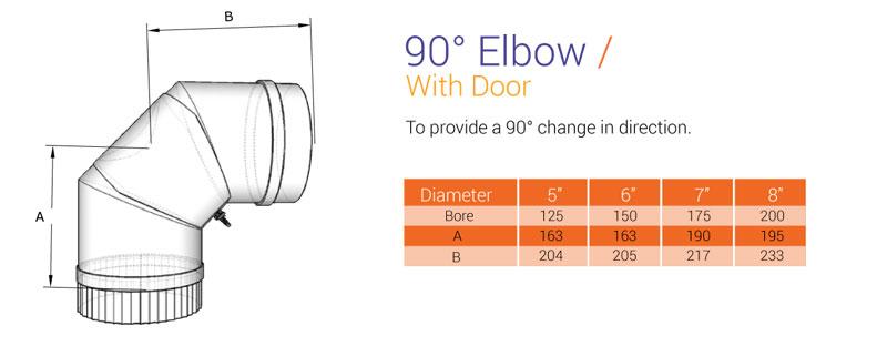 90 bend with door 316 1mm
