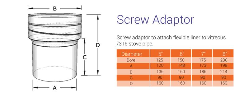 Screw type adaptor